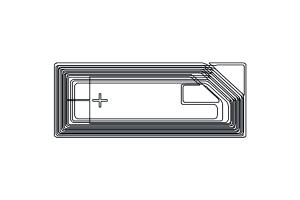 26x11mm 高频 RFID Ntag 干 Inlay