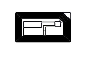 38x22mm 高频 RFID F08 干inlay