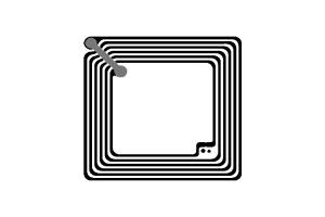 45x45mm 高频 RFID Ntag 干 Inlay