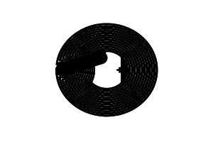 D=19mm 高频 RFID Ntag 干 Inlay