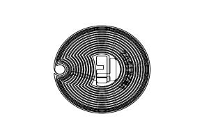 D=27mm 高频 RFID F08 干inlay